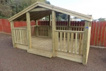 Sandpit Shelter with cover on